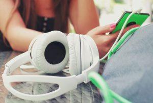 Casque de musique et smartphone